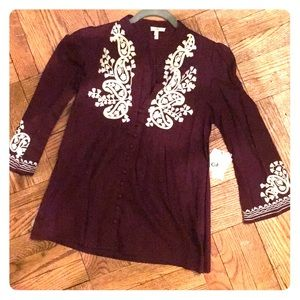 Joie Embroidered Blouse XS
